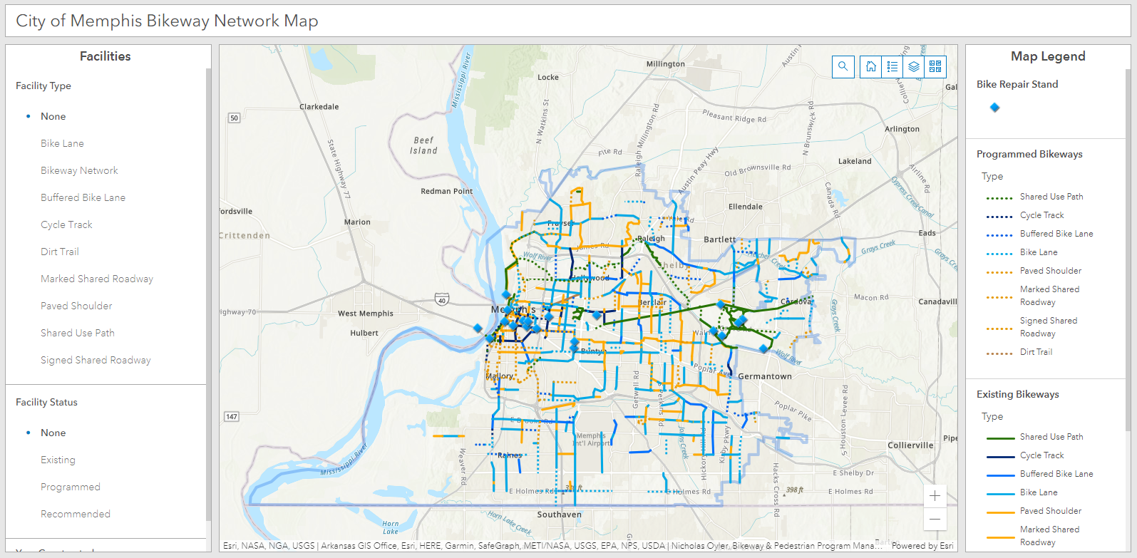 clicking on image directs user to Bikeway Network Map application